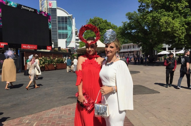 Colourful fashions at Oaks Day